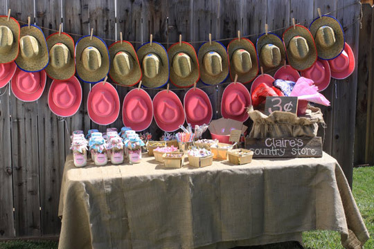 Backyard Western Party Ideas :  on etsy these would be a great way to kick off a cowgirl themed party