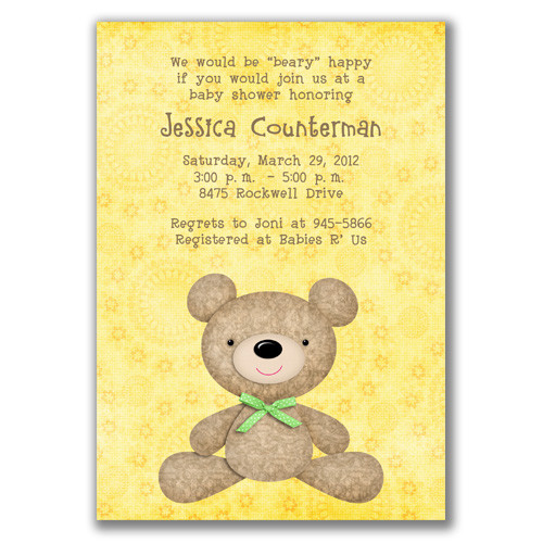 Chloes inspiration teddy bear themed baby shower celebrate begin with an adorable shower invitation filmwisefo Image collections
