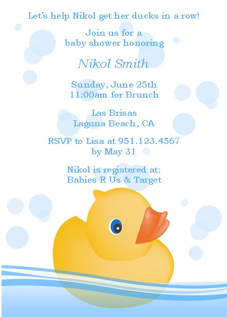 cute rubber duck invitation like this one from invitations by sambri
