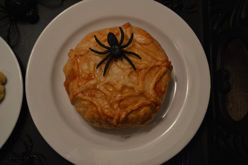 Chloe Crabtree's Baked Brie Spider Web