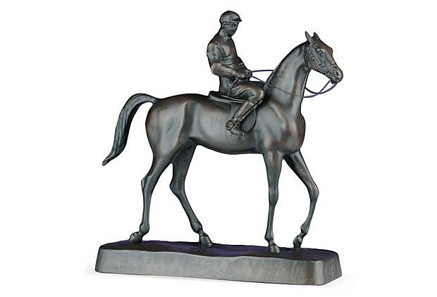 Horse and Jockey Statue