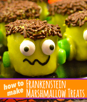 Frankenstein Marshmallow Treats - How To