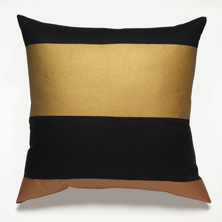 Black And Gold Pillow