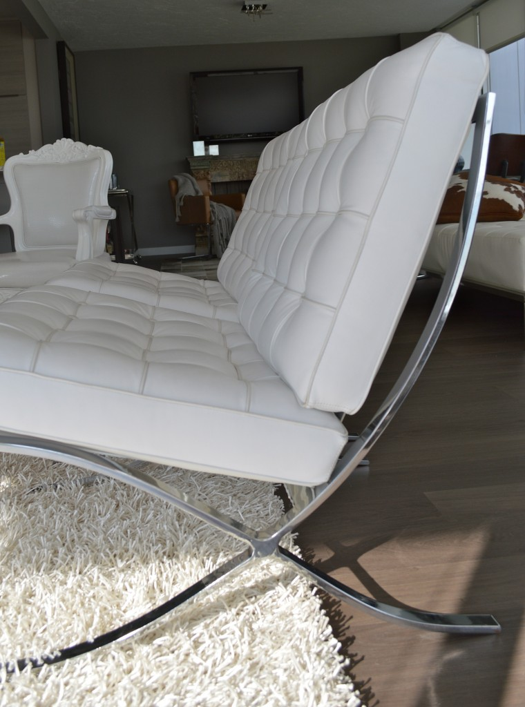 White Barcelona Chairs