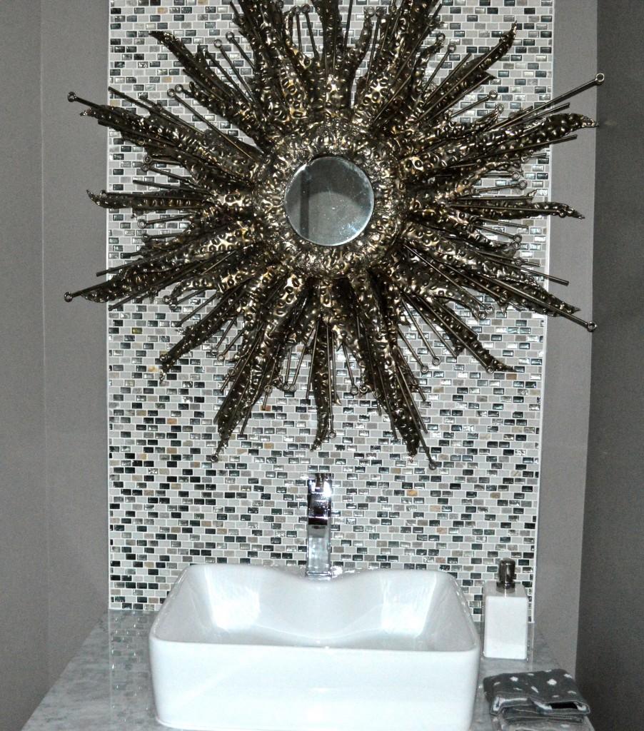 Sea Creature bathroom mirror
