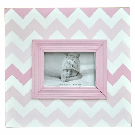 Pink Chevron Picture Frame