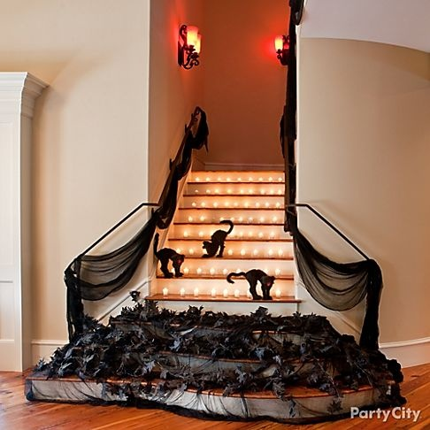 Spooky Staircase decor for Halloween