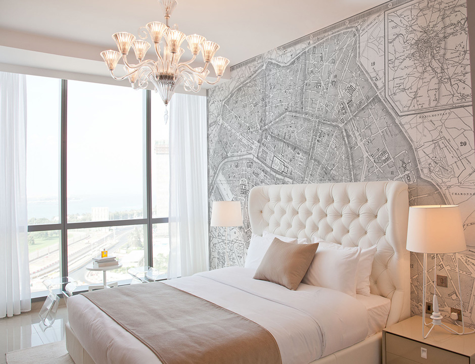 Bedroom Map Wallpaper Mural