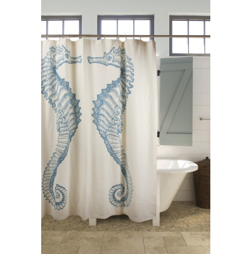 Seahorse showercurtain by Thomas Paul