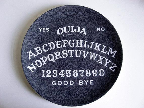 Ouija Board dinner plates