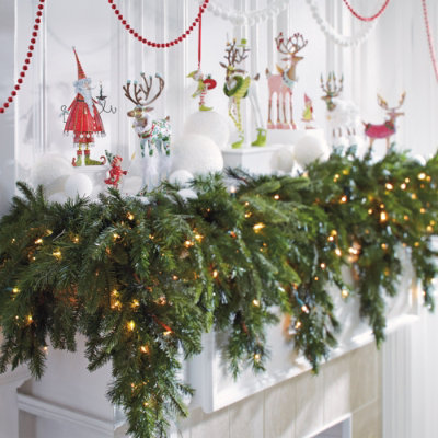 Christmas decorating ideas discovered on cyber monday for How to make christmas garland decorations