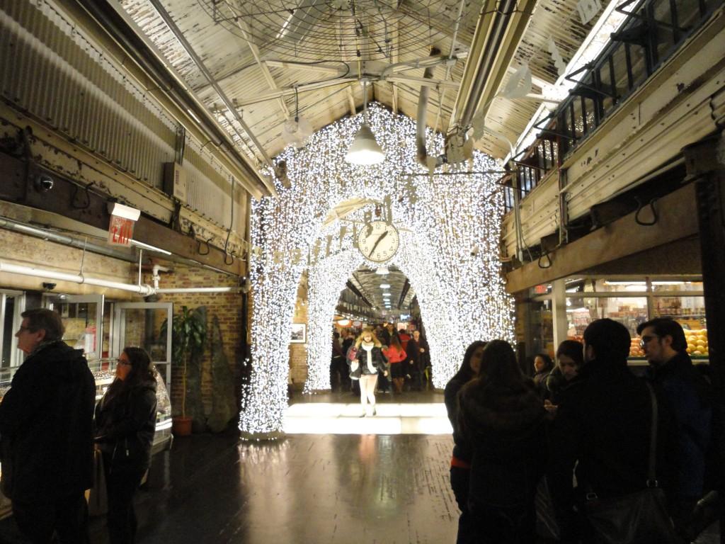 The Chelsea Market Christmas Lights
