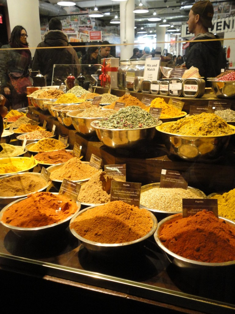 Incredible array of spices at Spices and Tease at the Chelsea Market