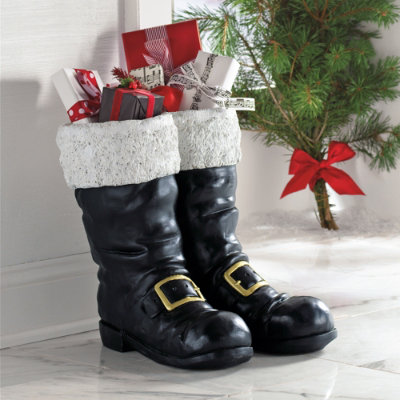 oversized santa boots - Cyber Monday Christmas Decorations