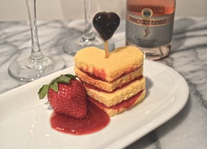 Valentines Day Strawberry Dessert