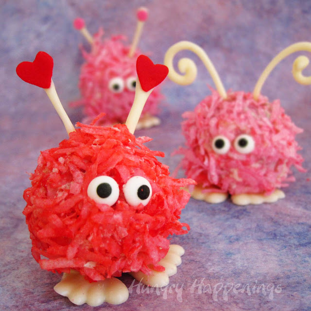Fuzzy Cake Ball Love Bugs