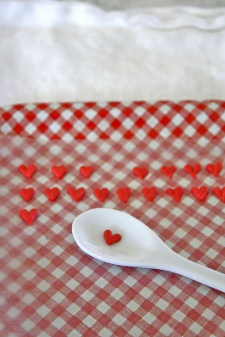 Homemade heart sprinkles