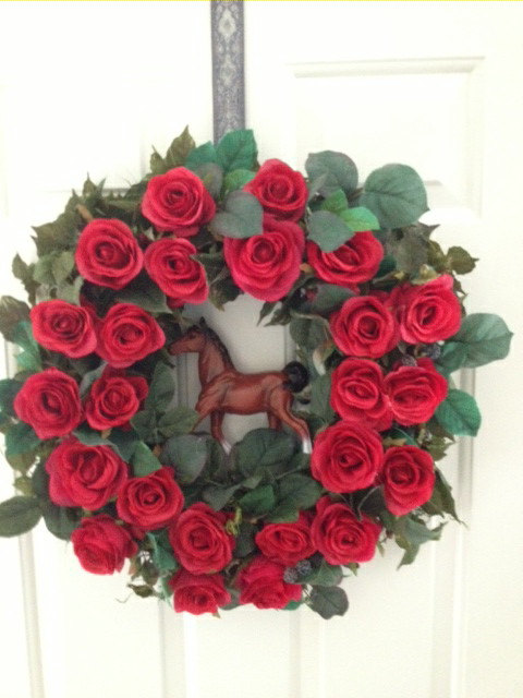 Kentucky Derby Door Wreath