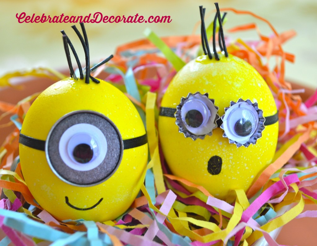 Minion Easter Eggs Celebrate Decorate