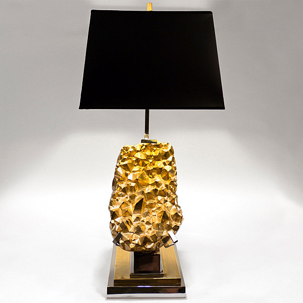 Brass table lamp Finished with Black Color Ideas of Lampshade Design Ideas with Gold Color Ideas