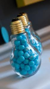 Light bulb party favors