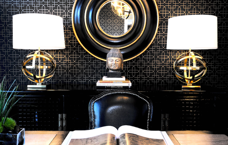 Black and Gold Office
