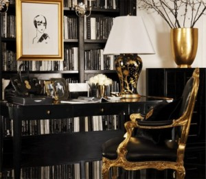 Bon Black And Gold Office Space