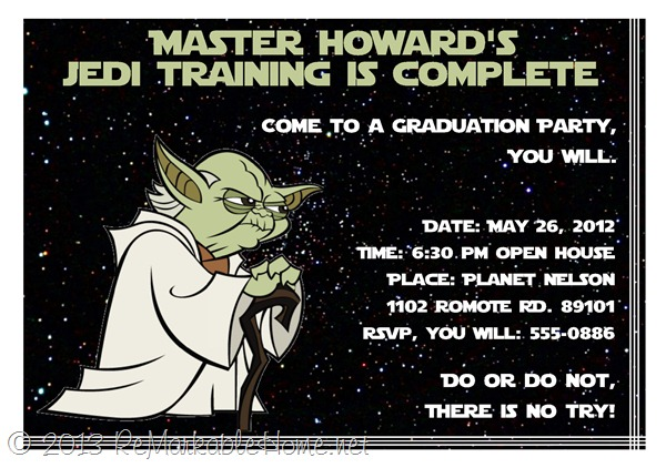 Star Wars Graduation Party Invitation