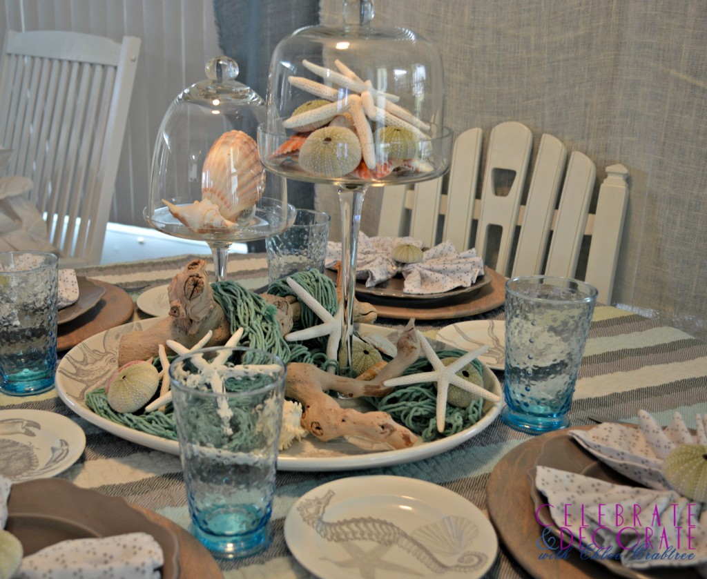 Coastal-luncheon-with-blue-hobnail-glasses