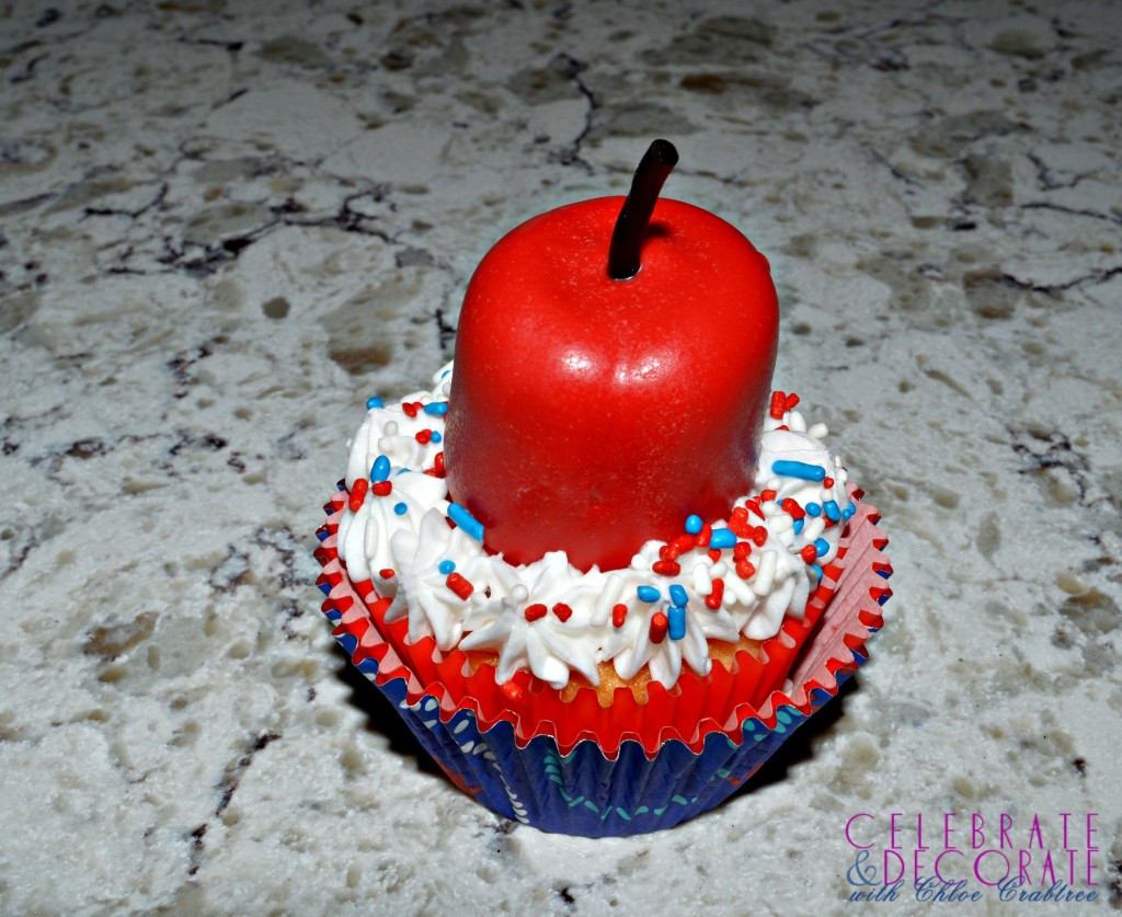 Fourth of July Firecracker Cupcake