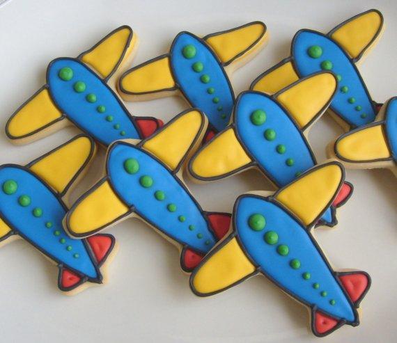 Airplane Cookies ~