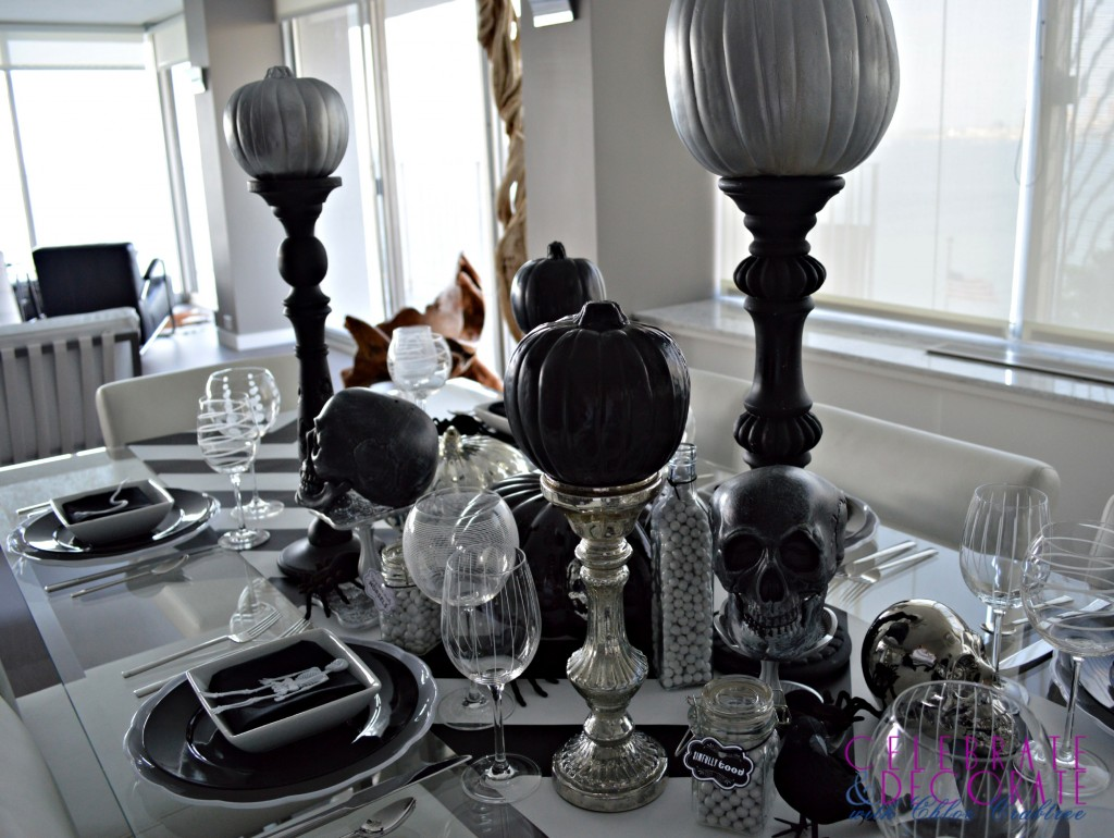 An Elegant Halloween Dinner Tablescape