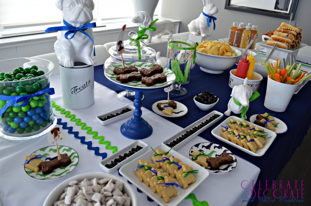 Blue and Green Dog Days Tablescape