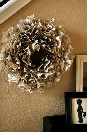 Book Page Wreath - Makely Home