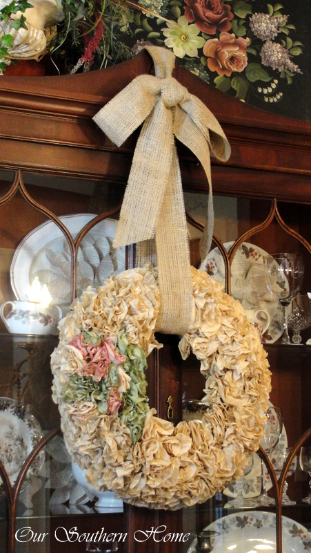 Coffee Filter Wreath ~ Our Southern Home