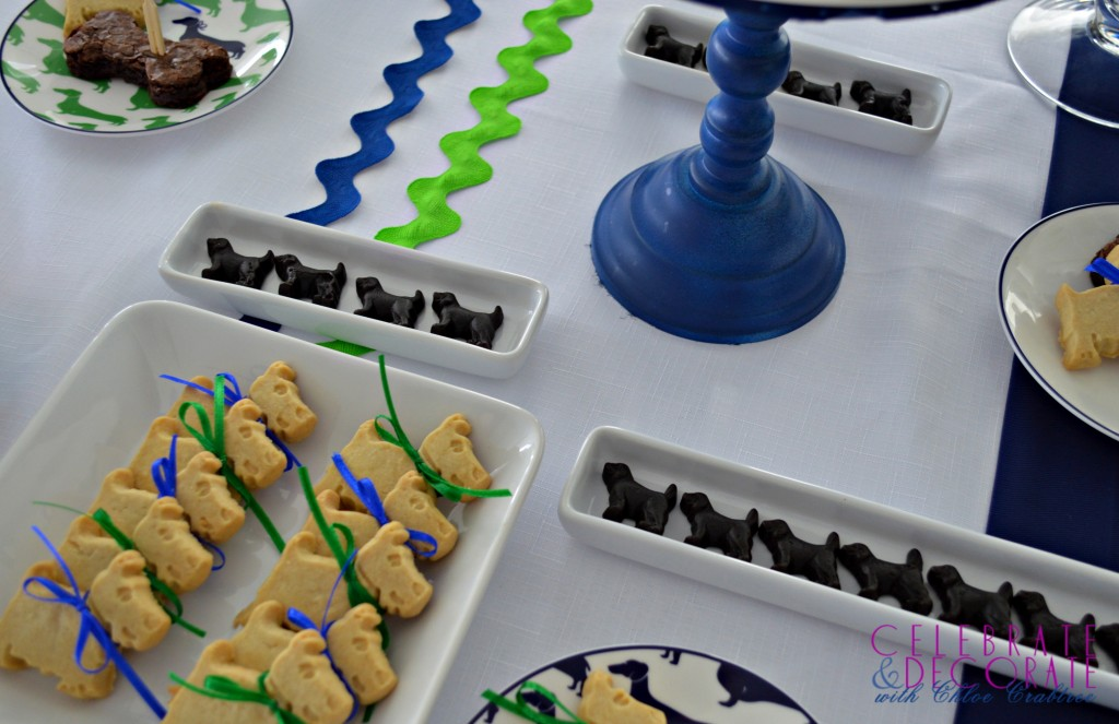 Cute dog-shaped treats for a Dog Days Party