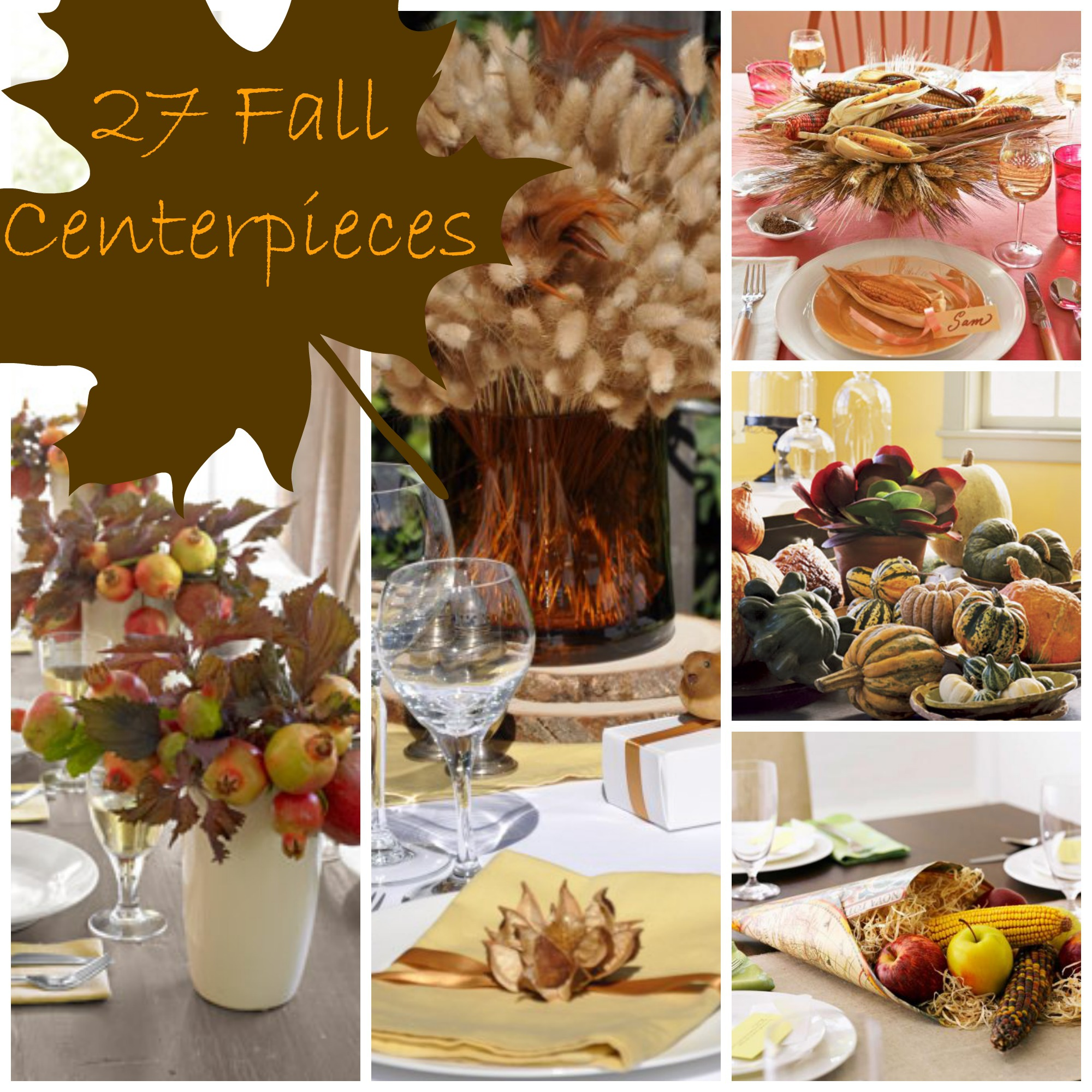 Fall Centerpiece Collage