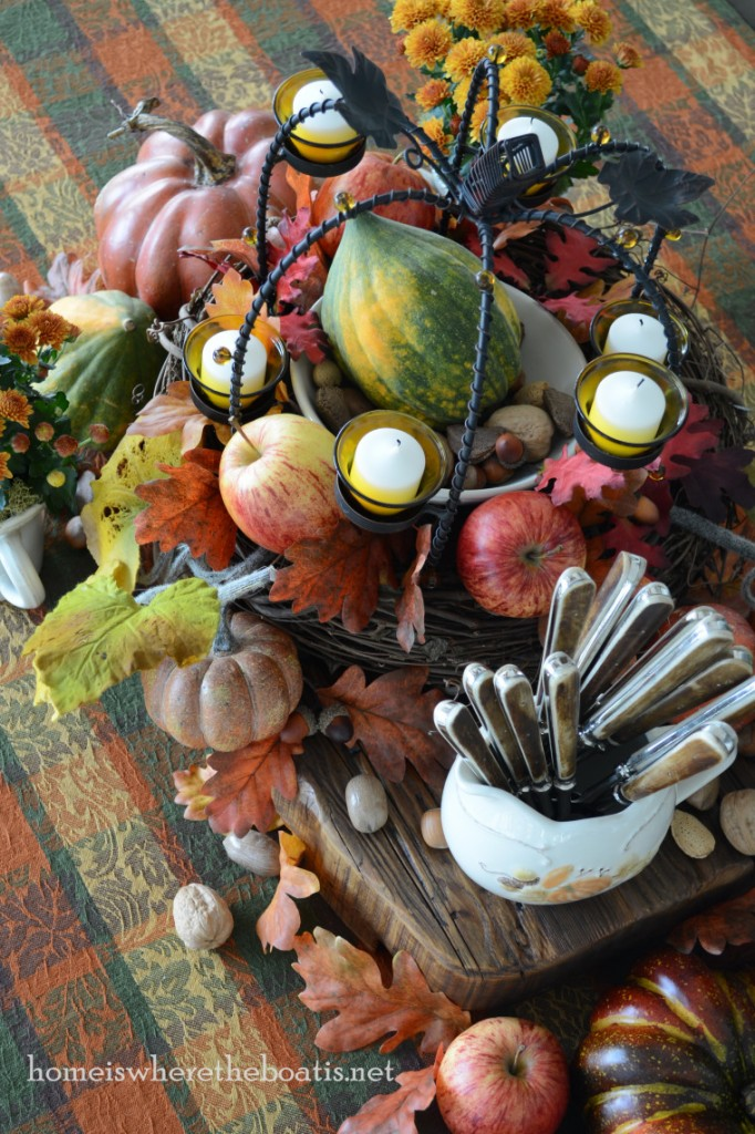 Fall Centerpiece ~ Home is Where the Boat Is