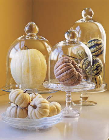 Fall Cloche Centerpiece ~ Country Living