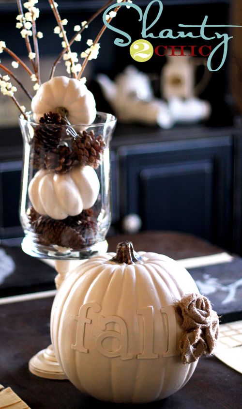 Fall Pumpkin DIY Centerpiece