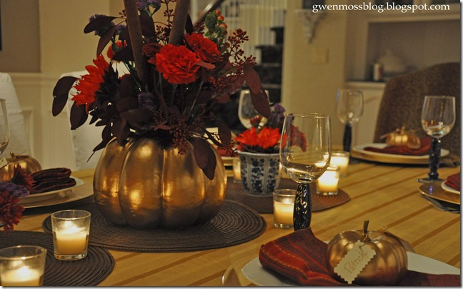Golden Pumpkin Centerpiece
