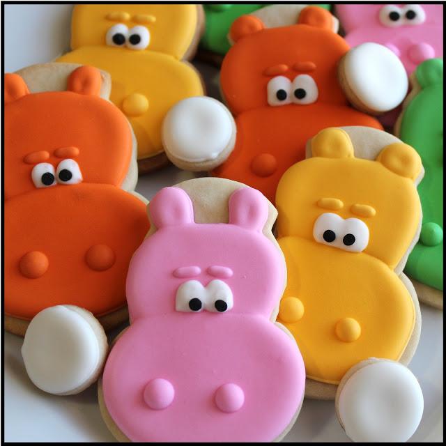 Hippo Cookies ~ Baking in Heels