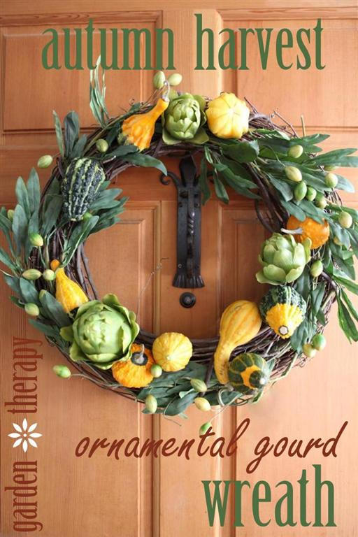 How-to-make-an-Ornamental-Gourd-Wreath