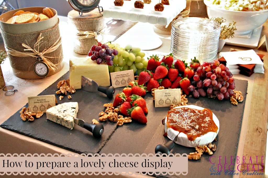 How to prepare a lovely cheese display