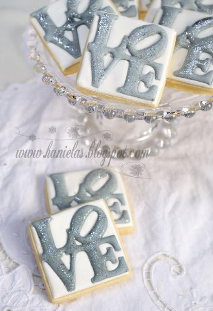 LOVE Stamp Cookies ~ Hanielas