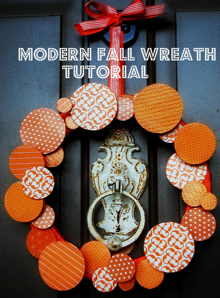 Modern Circle Wreath ~ The CSI Project