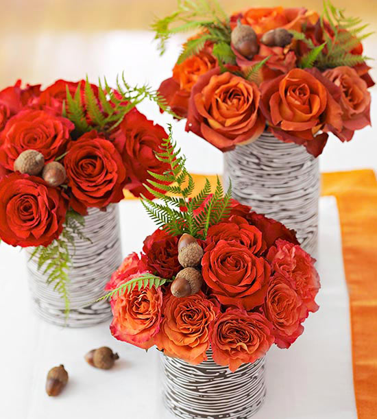 Orange rose Fall Centerpiece
