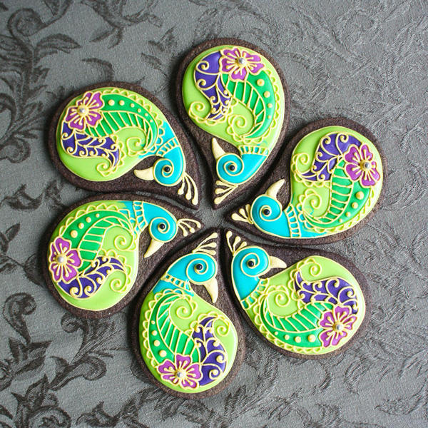 Peacock cookies ~ Cookie Connection