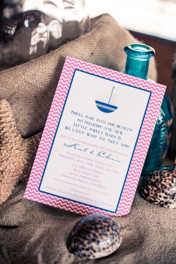 Pink an Blue Nautical Baby Shower