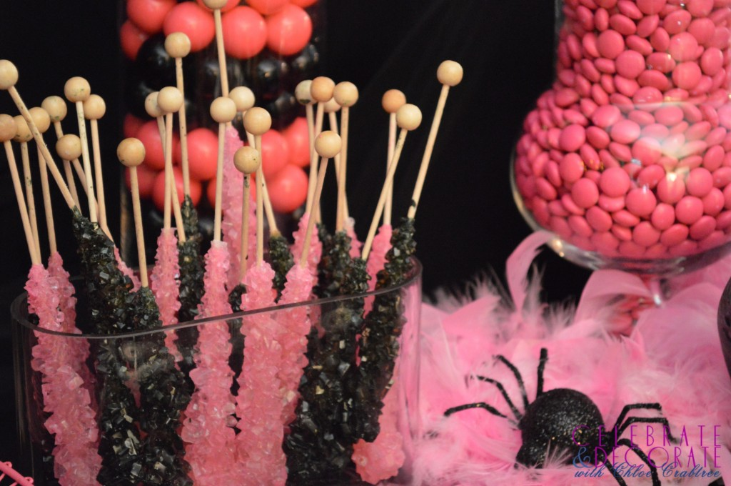 Pink and Black Swizzle Sticks